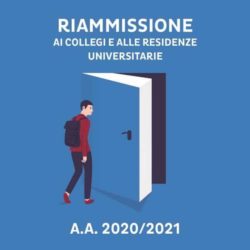 0 1 Riammissione ai Collegi e alle Residenze universitarie a.a. 2020/2021